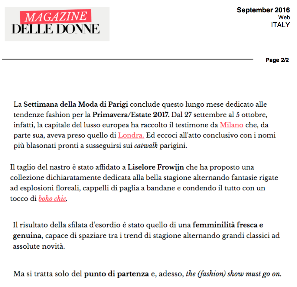 SEPTEMBER 2016 -  MAGAZINE DELLE DONNE ITALY.png