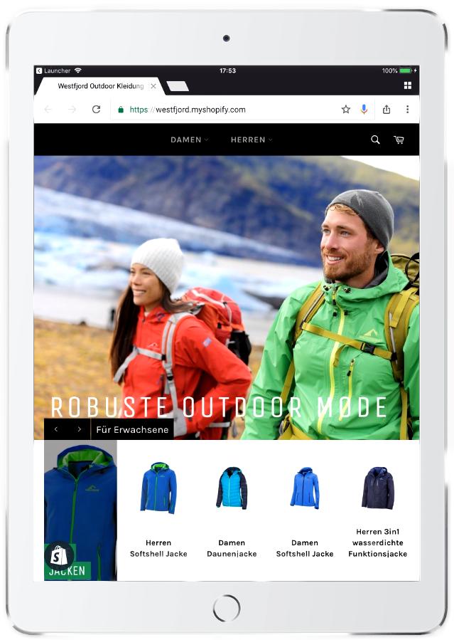 WESTFJORD x Shopify   realisiert von Blauband GmbH