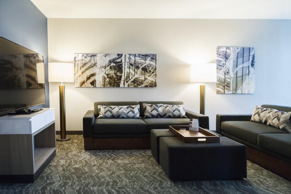 Marriott SpringHill Suites Somerset New Jersey Bedroom Suite Living Room
