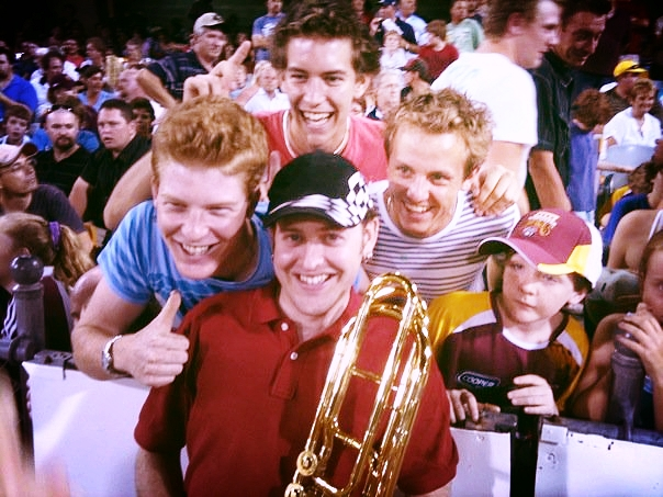 Fan-love at The Gabba, playing for Brisbane Heat at the Twenty20 Big Bash...