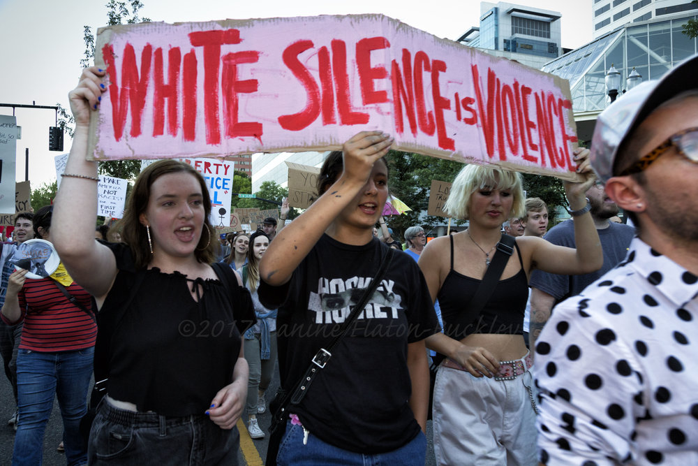 """White Silence IS Violence"""