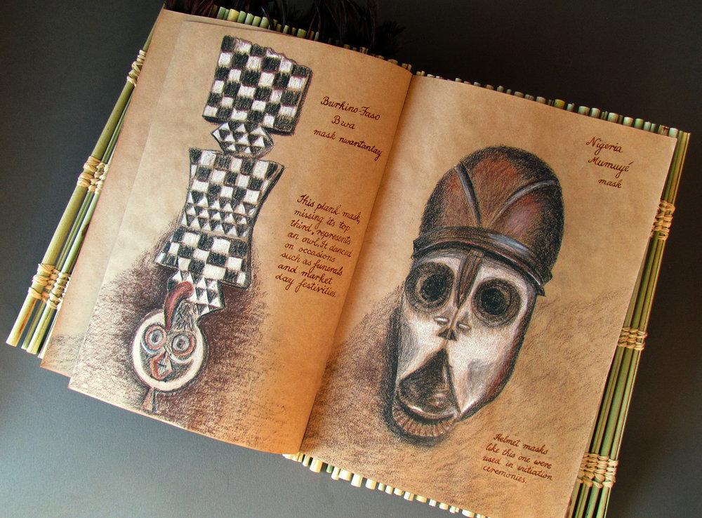 masks burkino-faso and nigeria mumuye