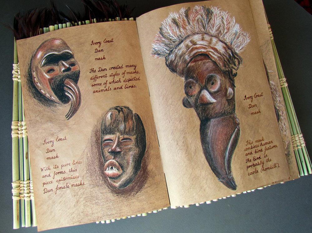 ivory coast dan masks
