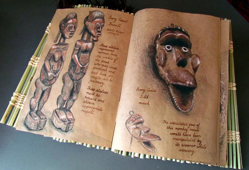 ivory coast statues and masks