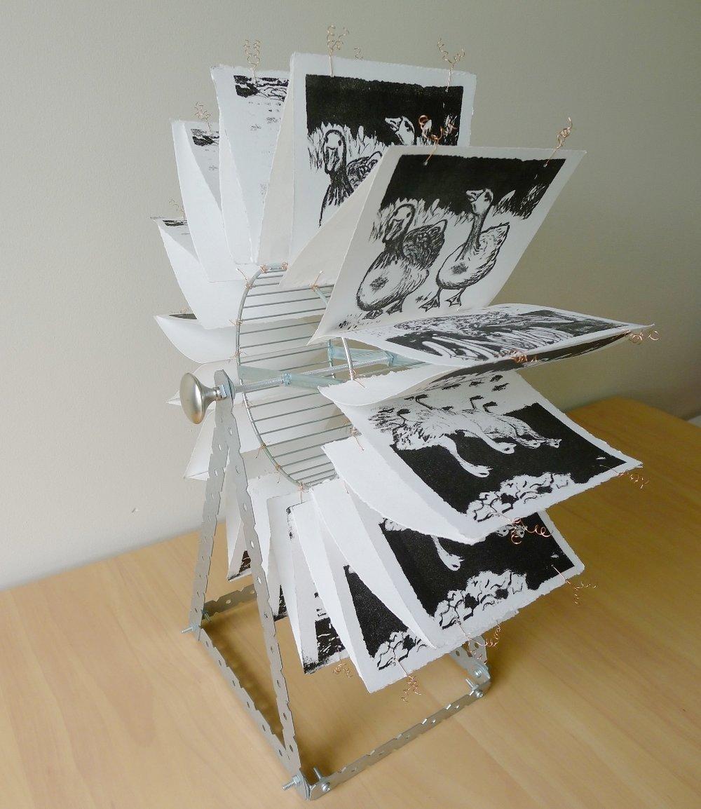 training-wheel-aluminium-lithography-print-council-beyond-the-frame-diane-harries