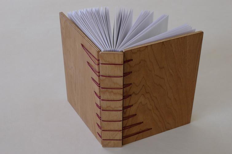 Secret Belgian Binding - wooden covers