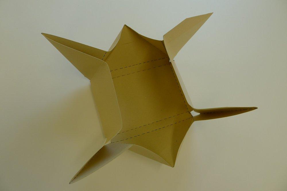 origami box open