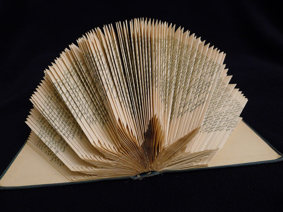 alternate view of folded book