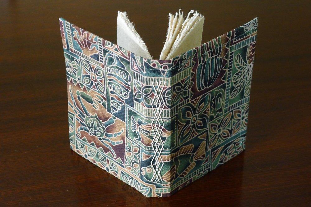 Fancy stitch with flax paper