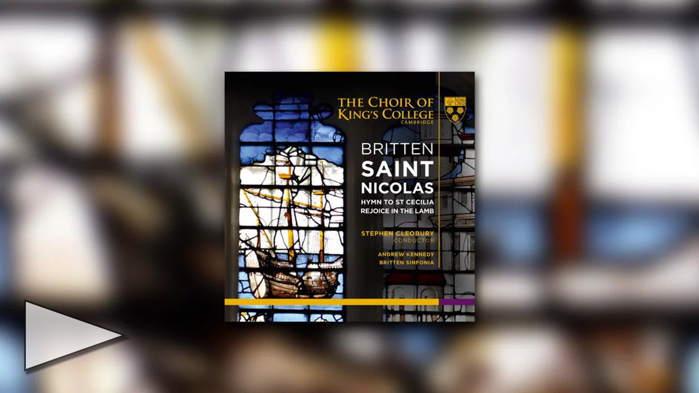 Choir of King's College, Cambridge perform Britten
