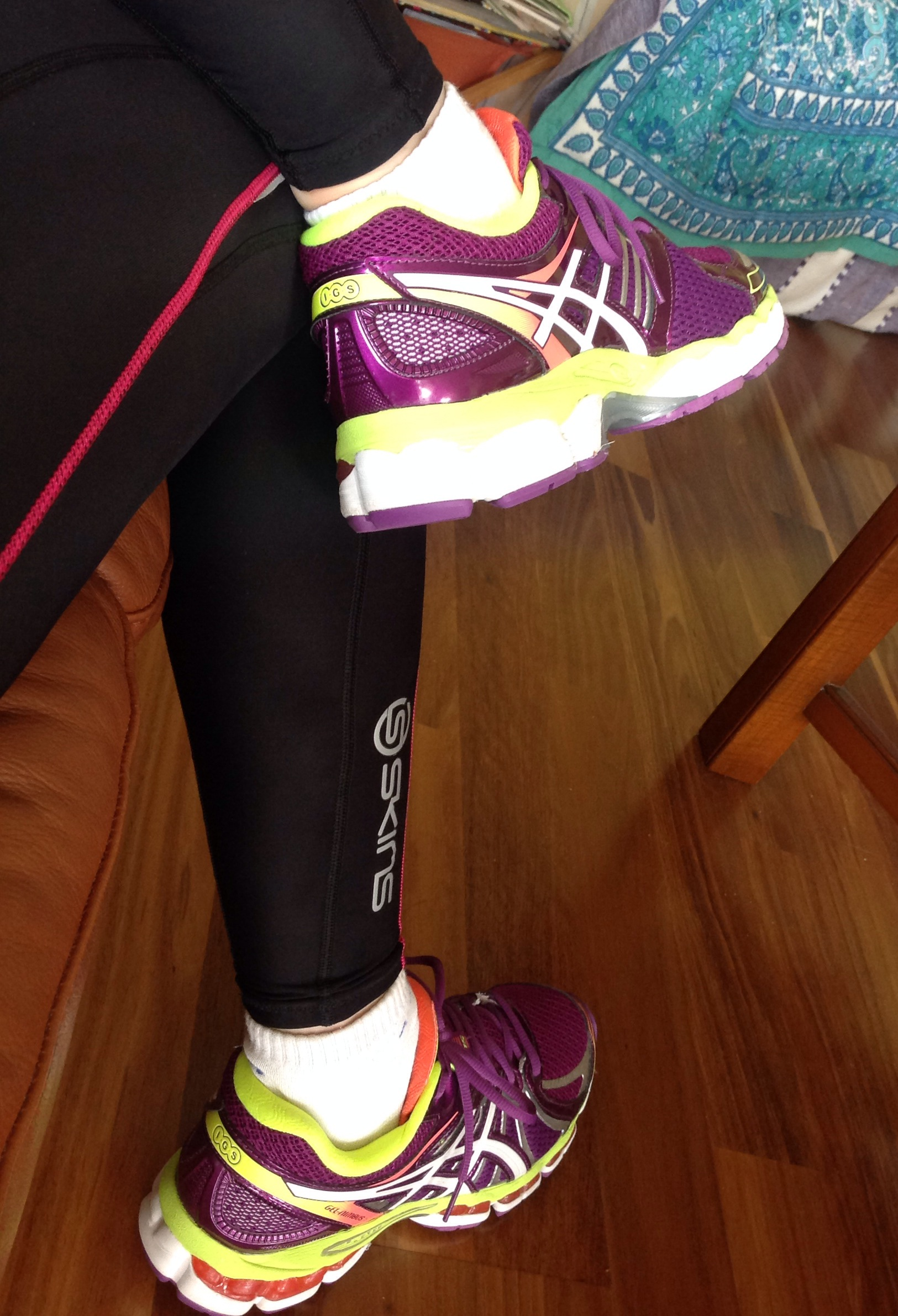 Beautiful trainers. And running tights.