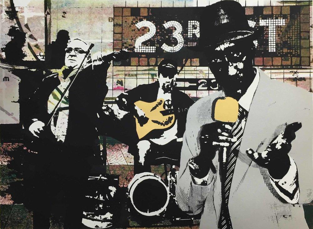 "The Crooner - serigraph, 18""x 24"", 2016"
