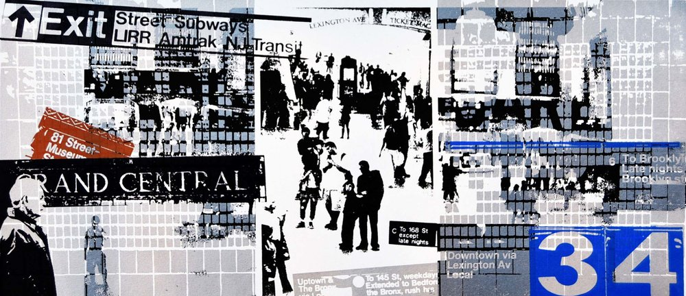 "Grand Central IV - serigraph, 10.25""x 23"", 2014"