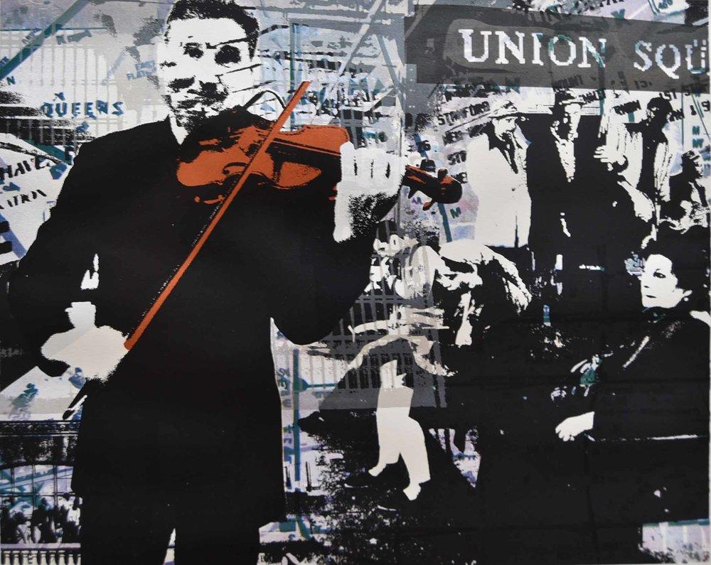 "The Violinist  - serigraph, 20""x25"", 2016"