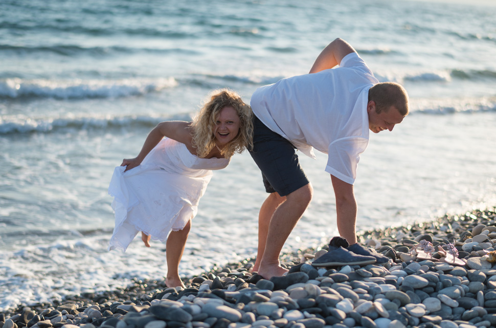 Kourion beach engagement photography Cyprus