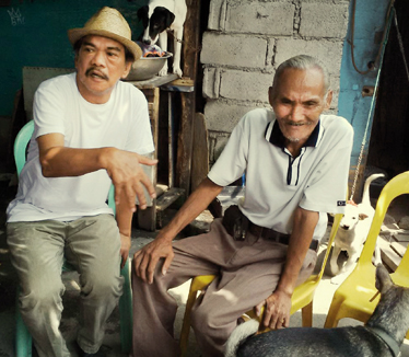 "Lou Veloso und das ""Original"" Mang Sergio"