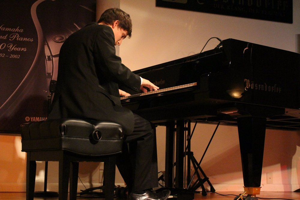 Performing at the 2017 American Jazz Piano Competition Finals