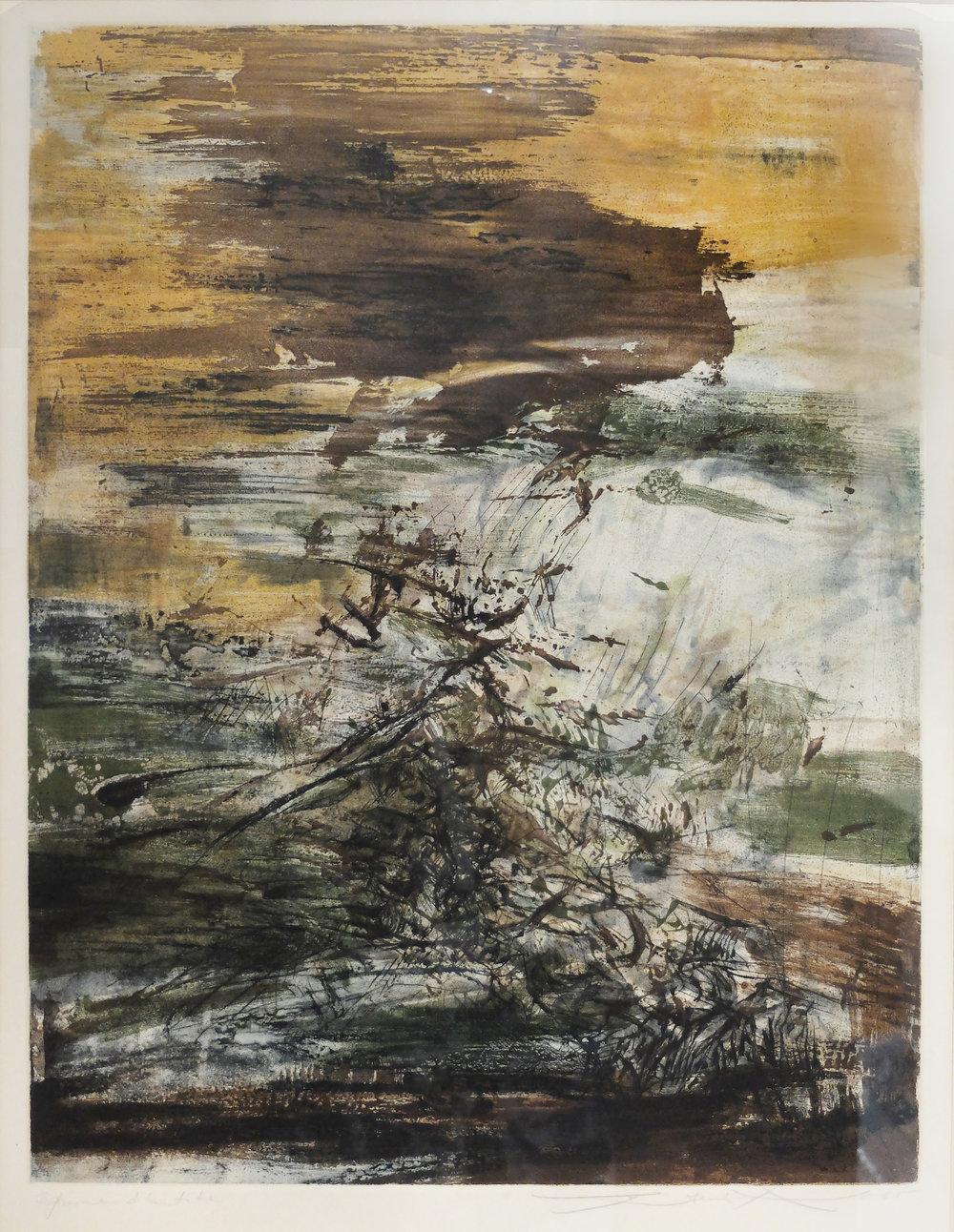 Zao Wou-Ki (Chinese, 1921 - 2013)