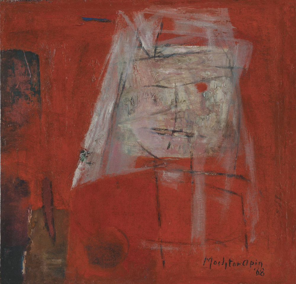 Mochtar Apin, Abstract Face, ooc, 33 x 33 cm, 1968.jpg