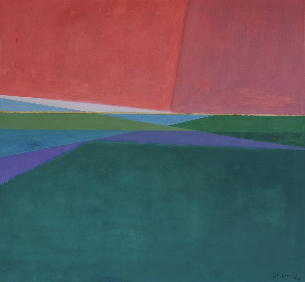 Mochtar Apin, Pemandangan (Landscape), aoc, 130 x 140 cm, 1990.jpeg