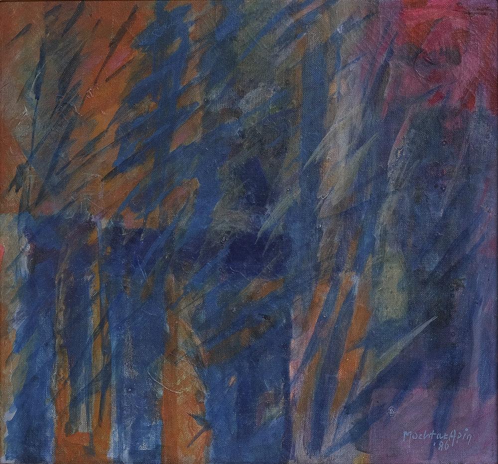 Mochtar Apin, Rumput Liar & Padi Harapan (Wild Grass), aoc, 39 x 42 cm, 1986.jpeg
