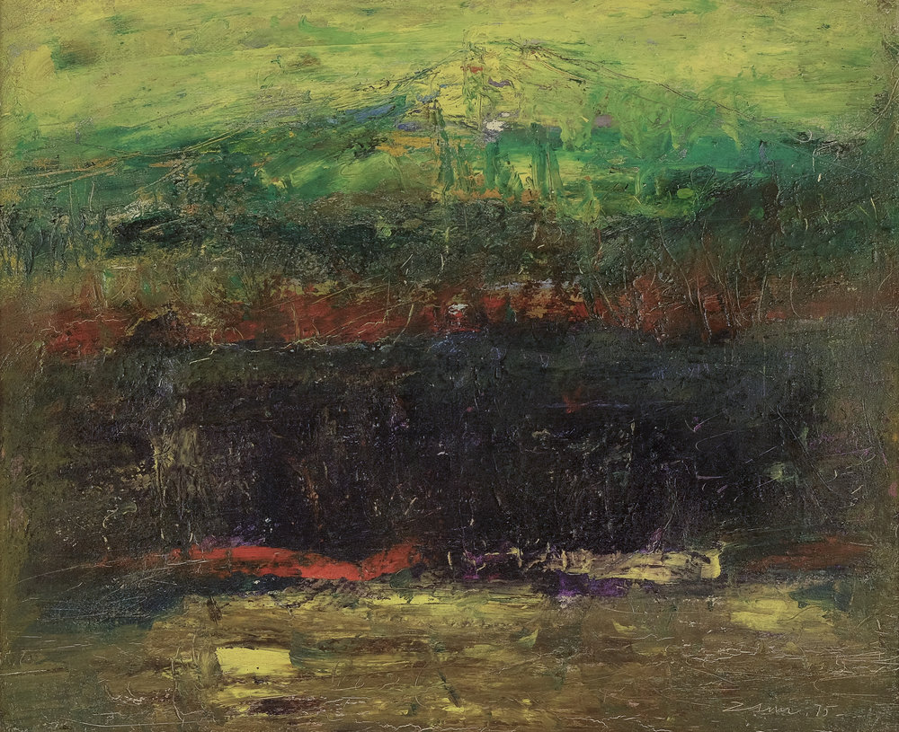 Zaini, Gunung dan Laut (The Mountain and the Sea), ooc, 30 x 40 cm, 1975.jpg