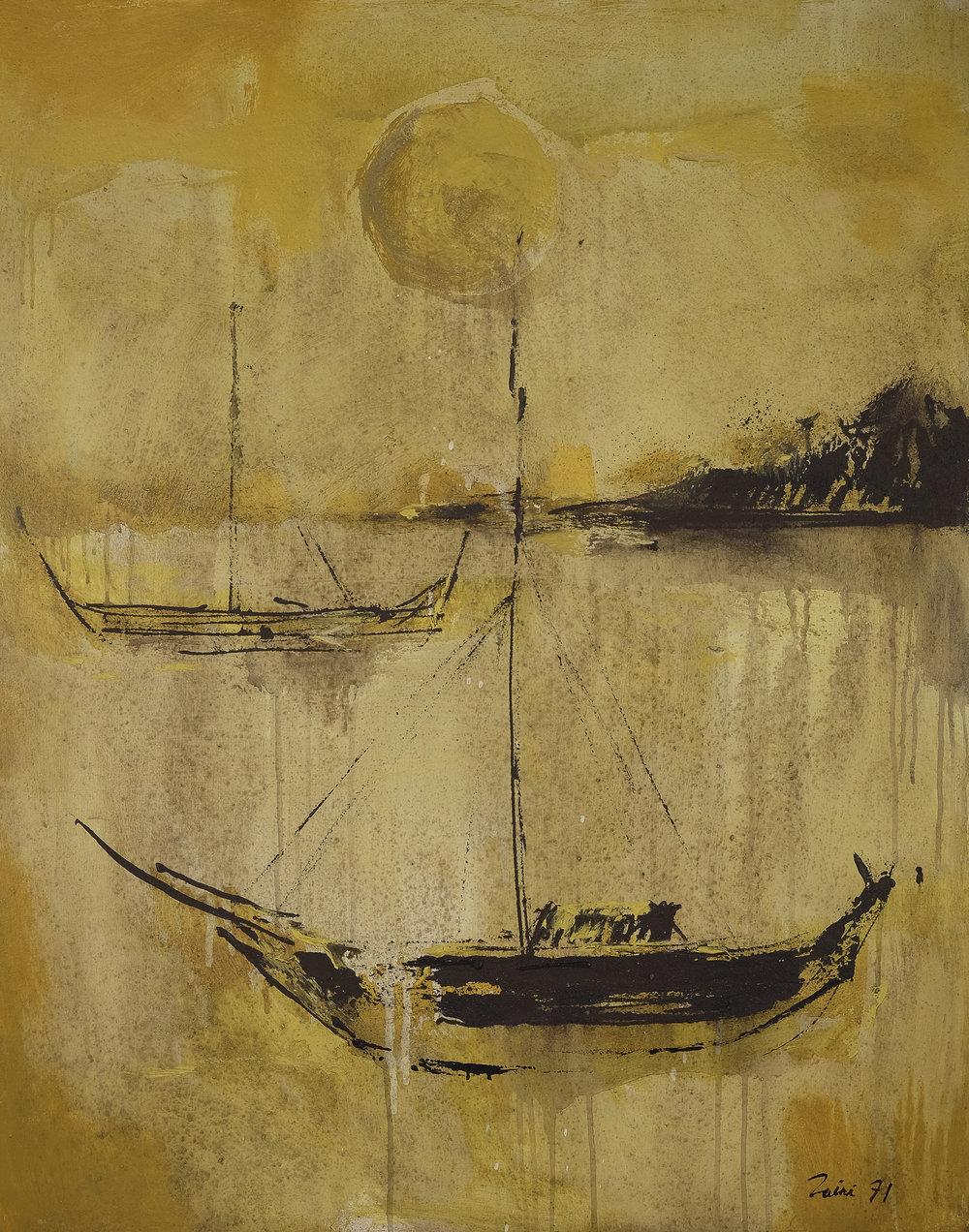 Zaini, Ships, ooc, 100 x 80 cm, 1971.jpg