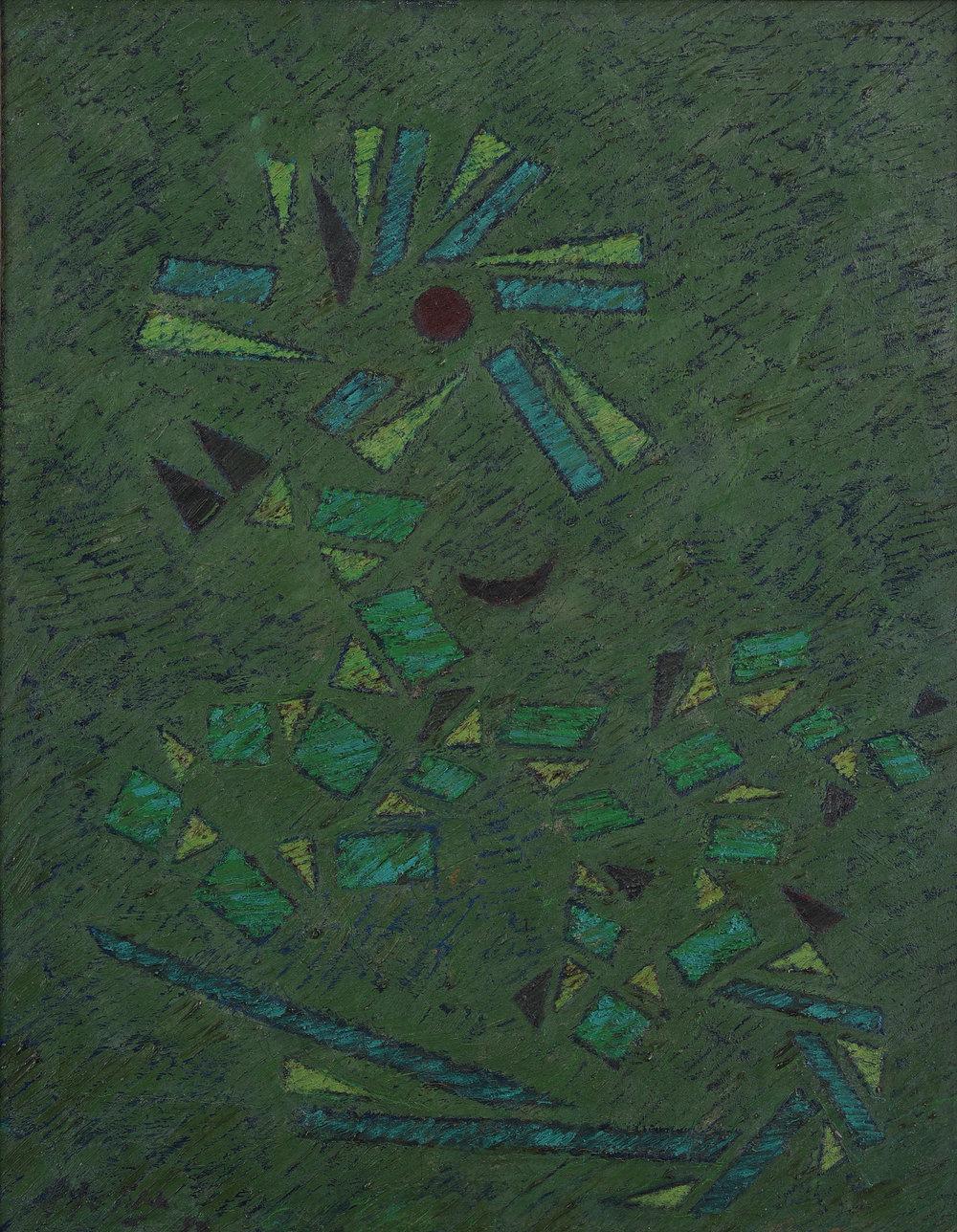 Fadjar Sidik, Mandala Hijau (Green Mandala), ooc, 90 x 60cm.jpg