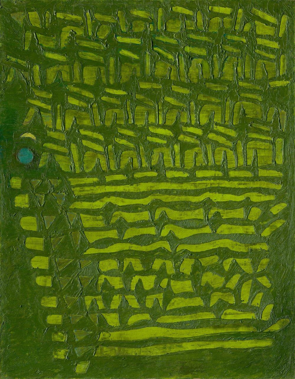 Fadjar Sidik, Green and Lime Green, ooc, 90x70cm.jpg
