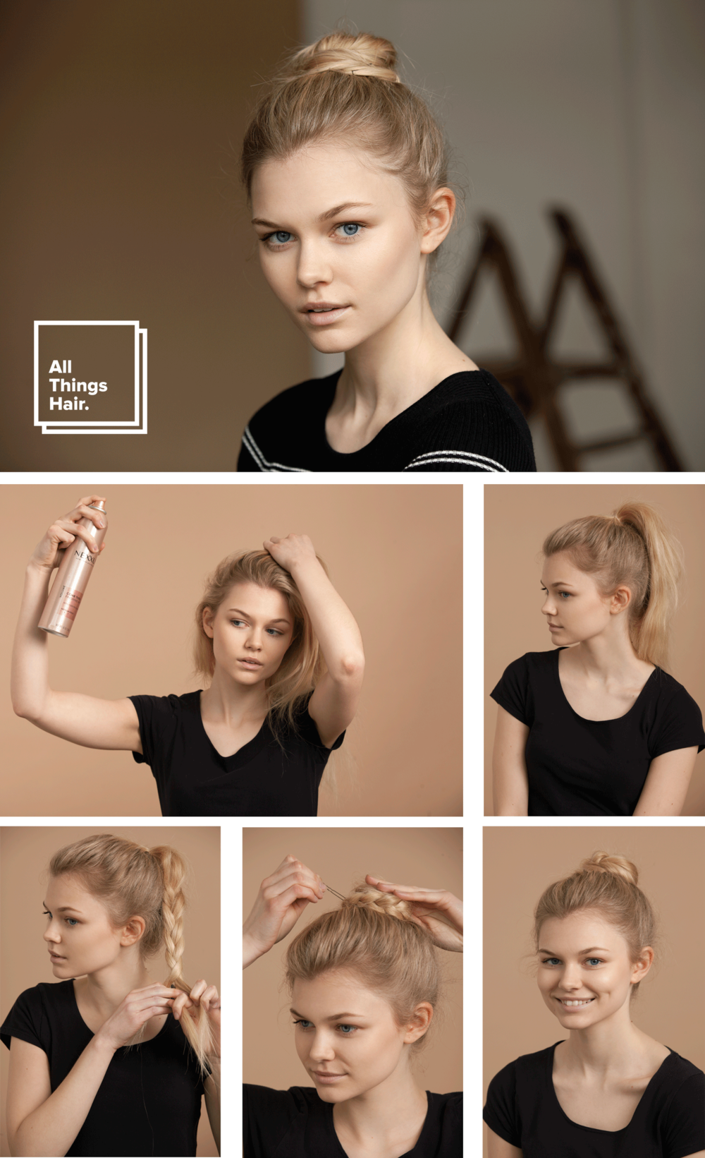 Campaign and Tutorial for All Thing Hair by Unilever in Sao Paulo