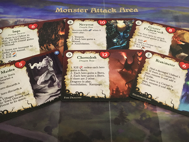 Six different monster factions makes every game a new challenge to face