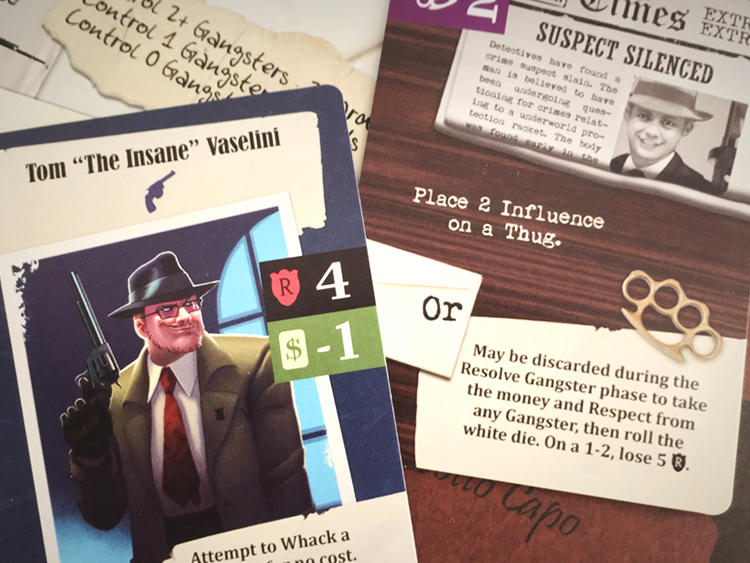 Use Influence cards to sway powerful gangsters to your family's side - including taking them from a rival family!