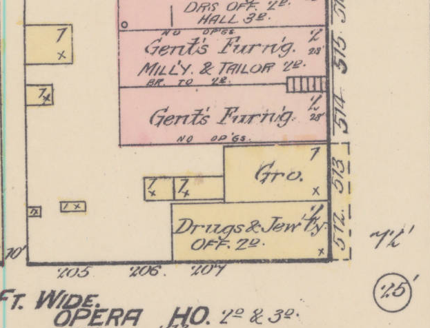 1884 Sanborn Fire Insurance Map