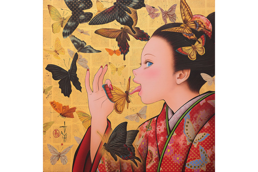 Butterflies (Inspired by Takeji Fujishima)
