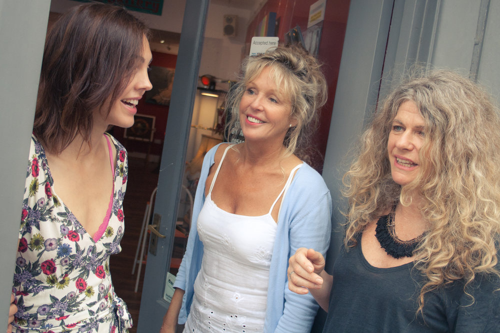 - The Pilot Girls of Red Propeller! Sallyann pictured (middle) with RPG Director Sarah (right) & Charlotte (left).