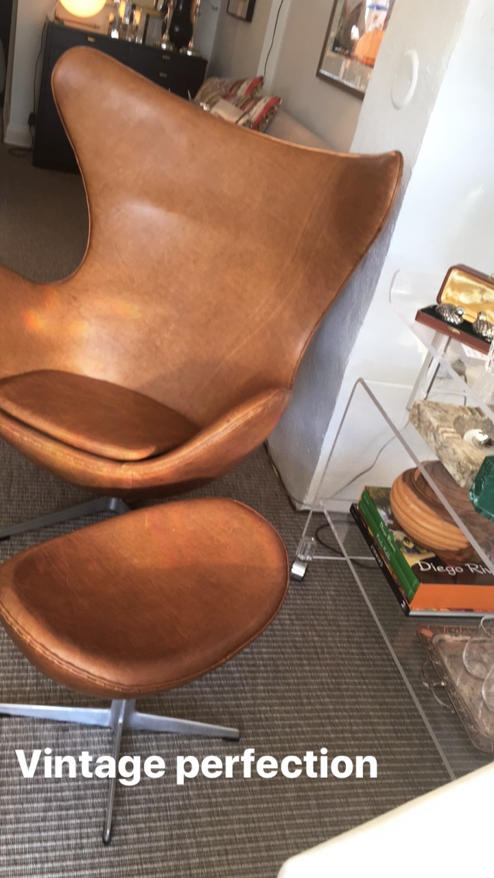 SOLD! ARNE JACOBSEN EGG CHAIR  + OTTOMAN