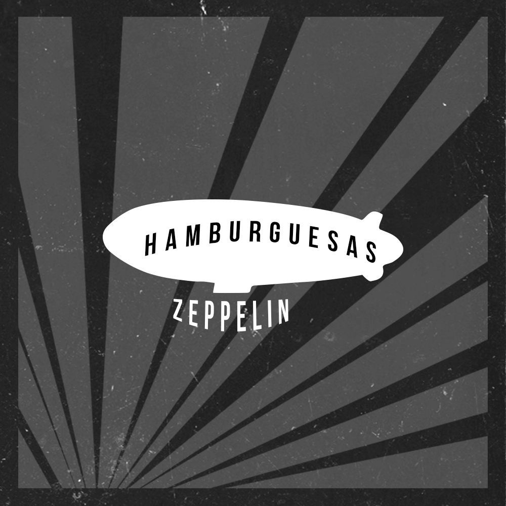 hamburguesas zeppelin artfood rock & roll