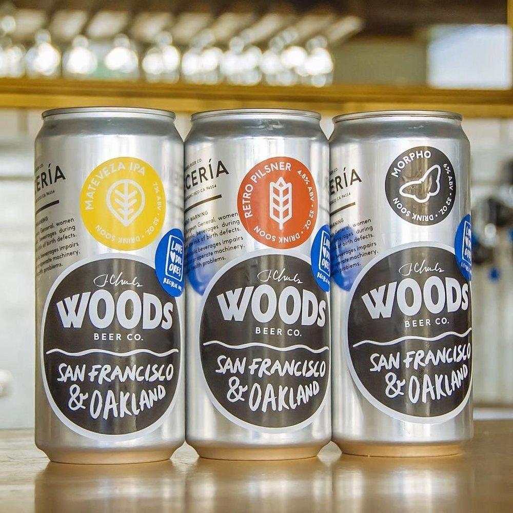 WOODS BEER  Dirección:1701 Telegraph Avenue Oakland,CA Teléfono:+1 (415) 212-8412 Web: http://www.woodsbeer.com/bar-and-brewery  Correo Electrónico: info@woodsbeer.com  @facebook: @instagram: https://www.instagram.com/woodsbeer/  @twitter: https://twitter.com/woodsbeer
