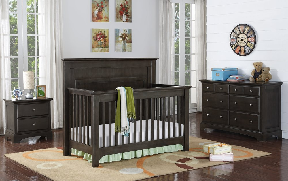 gray nursery furniture. the barclay crib collection in burnished grey gray nursery furniture