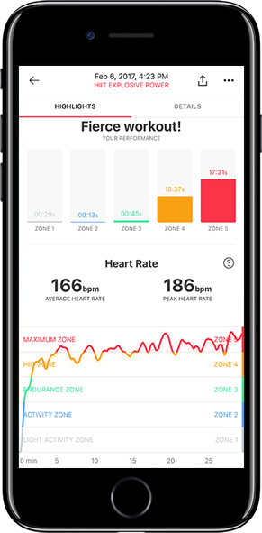 New Workout Report  Shows you exactly how you did and track every moment of your workout.