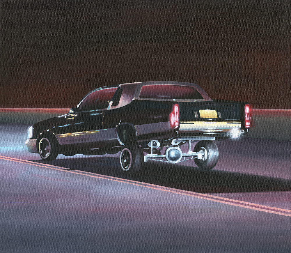 "Low Rider, 2017. Oil on canvas 16"" x 14"""