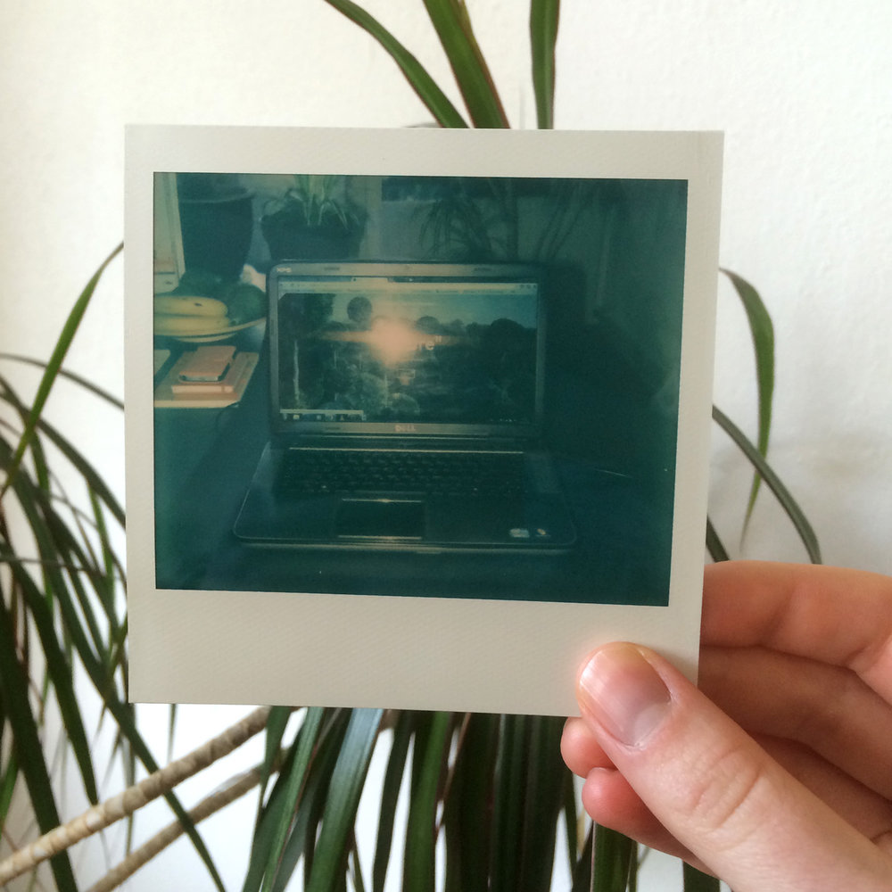 (Ziehier wat mijn polaroid camera van de nieuwe website vindt)