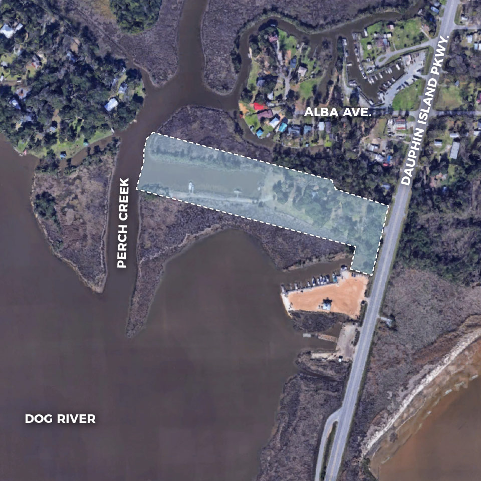 For SALE - Ideal for a restaurant, fish camp/cottage, marina or other water related developments. Located 0.2 mile north of the Dog River Bridge.