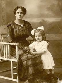 Mom and her mother, Franziska Voll Buehner.