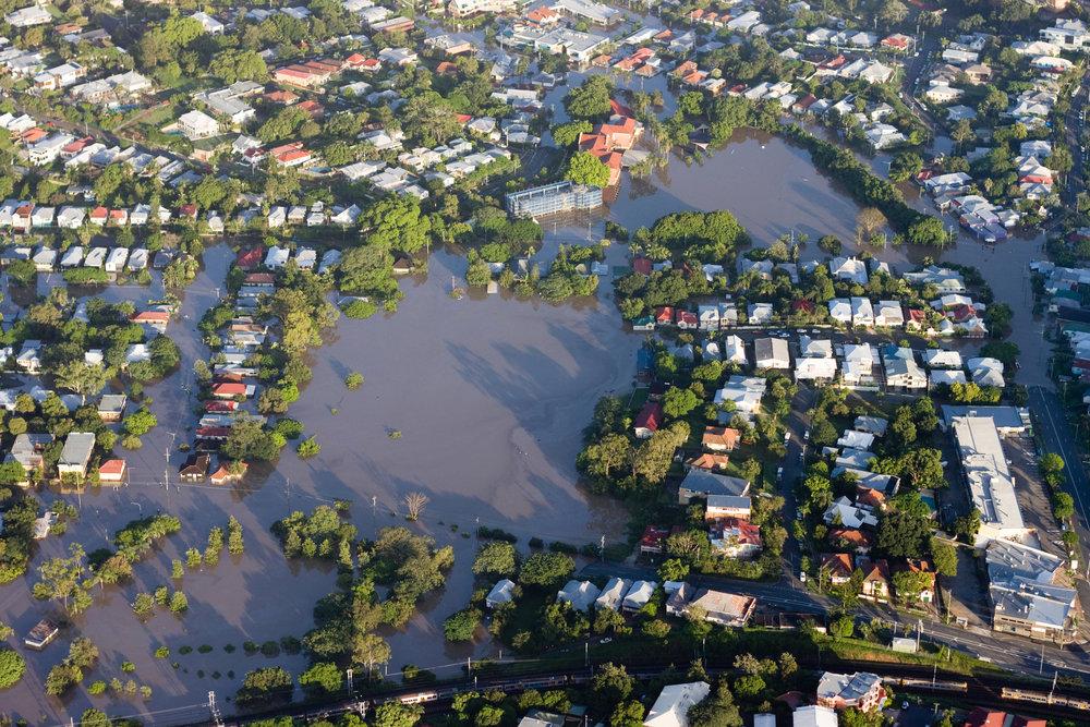 Visualize an extreme flood
