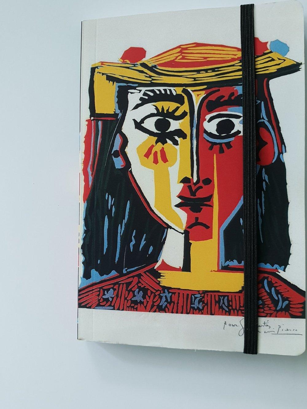 "CARNET DE NOTES ""artsy"" - Couverture : by PICASSO     15 000 F"