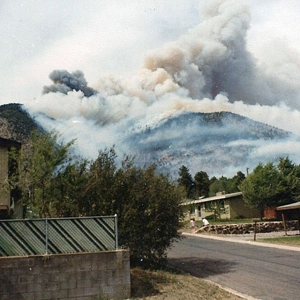 Radio fire, Mt. Elden, 1977