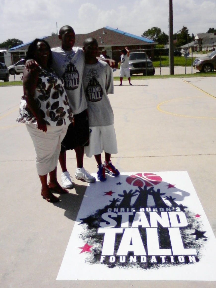Stand Tall - Basketball Court Refurbishment project sponsored by the Stand Tall Foundation. Over 32 courts refurbished after Hurricane Katrina.