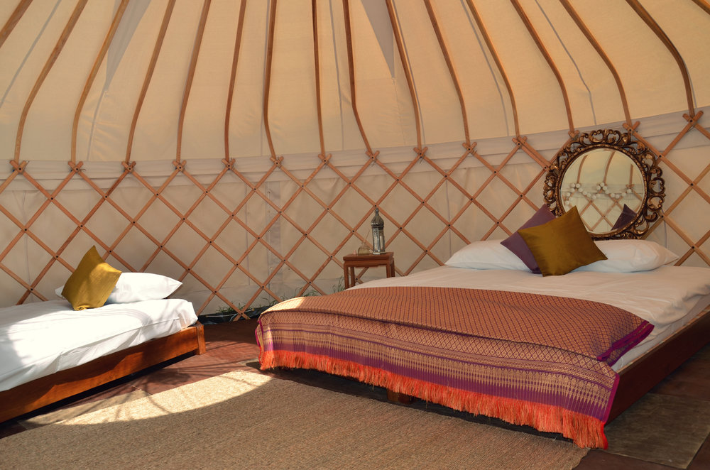"Luxury Yurt ""Real"" Beds"