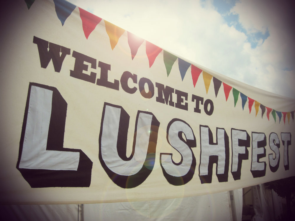 Corporate Events Welcome to Lushfest Banner